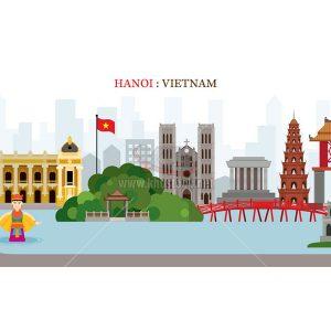 Vector Hà Nội, Việt Nam tuyệt đẹp - KS848