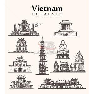 Vector công trình lịch sử nổi tiếng Việt Nam - KS862