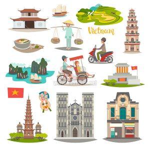 Vector minh họa du lịch Việt Nam - KS863