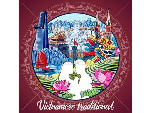 Vector nghệ thuật du lịch Việt Nam - KS870