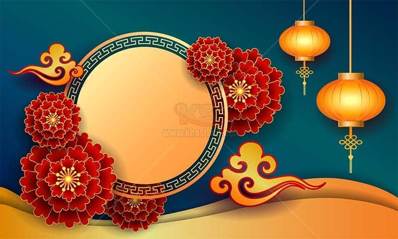 Backgrounds lễ hội Trung Quốc Vector - KS889