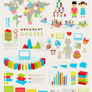 Vector Infographics Trường Học - KS891