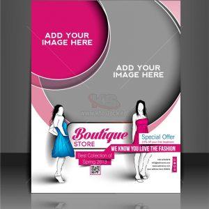 Poster Thời Trang màu hồng Vector - KS890