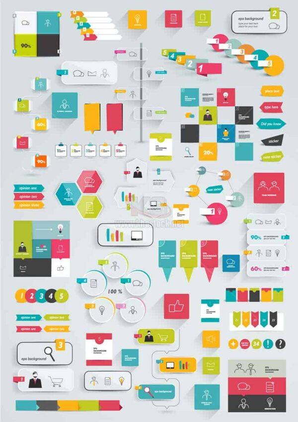 Nguyên liệu thiết kế Infographics - KS911