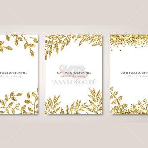 Banner hoa vàng trên nền trắng Vector - KS769