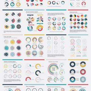 Vector biểu đồ tròn Infographics - KS904