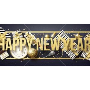 Vector Happy New Year sang trọng - KS771