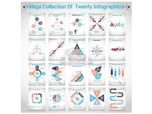 20 Vector Infographichs chất lượng cao - KS899