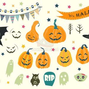 25 Backgrounds Halloween and elements - KS1030