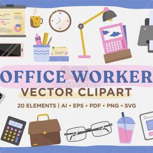 Vector đồ dùng văn phòng - KS1032