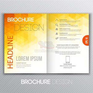 Vector Brochure ngả vàng đẹp mắt - KS918