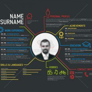 Vector Profile Infographics tuyệt đẹp - KS933