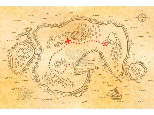 Vector bản đồ tìm châu báu cổ điển - KS949