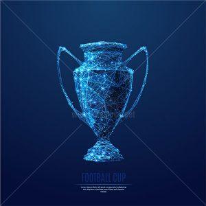 Cup Công Nghệ màu xanh Vector - KS956