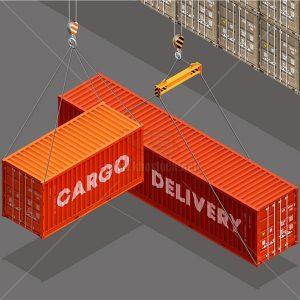 Vector Cẩu Container tại Bến Cảng - KS962
