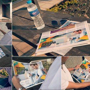 Mockup đọc báo ngoài đường PSD - KS987