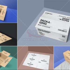 Mockup hộp giấy Carton PSD - KS981