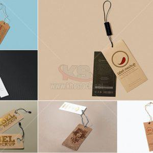Mockup Thẻ treo quần áo PSD - KS994