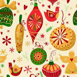Pattern trang trí Giáng Sinh Vector - KS1024