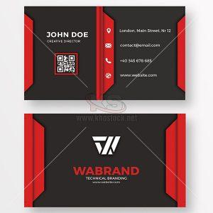 PSD Card Visit đỏ và đen - KS939