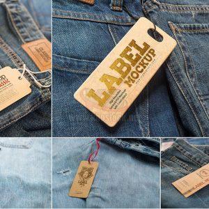 PSD Mockup Thẻ gắn quần bò - KS989