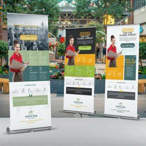 PSD Roll-Up Banner doanh nghiệp tuyệt đẹp - KS1007