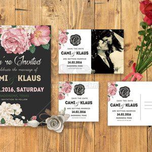 PSD Thiệp mời đám cưới hiện đại - KS1006