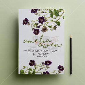 PSD thiệp mời hoa tuyệt đẹp - KS1000