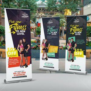 Roll-Up Banner phòng tập Gym PSD - KS1004