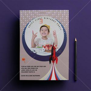 Thiệp mời sinh nhật trẻ em PSD - KS999