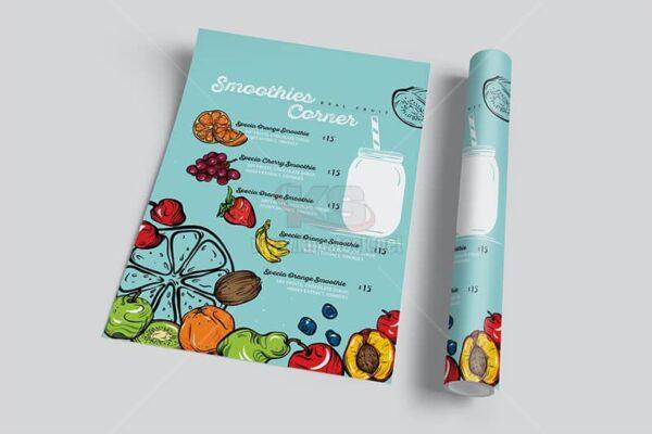 Tờ rơi sinh tố trái cây PSD - KS1005