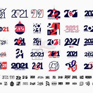 Vector số 2021 tuyệt đẹp - KS1064