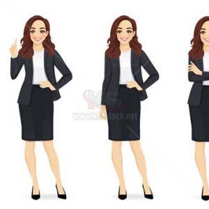 Vector nữ nhân viên văn phòng - KS1065