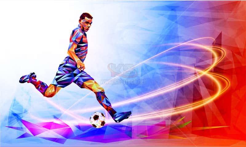 Vector cầu thủ bóng đá - KS1096