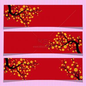 Banner Tết Mai Vàng định dạng Vector - KS1100