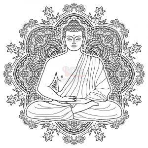 Vector Đức Phật miễn phí tuyệt đẹp - KS1106