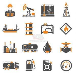 Bộ icons khai thác dầu khí - KS1108
