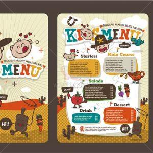 Menu ẩm thực trẻ em tuyệt đẹp - KS1113