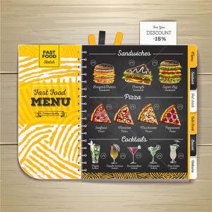 Vector Menu Pizza hiện đại - KS1115