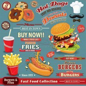 Menu Hot Dog Vector chất lượng cao - KS1121
