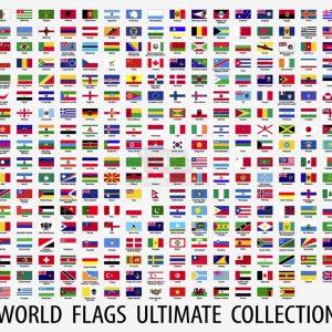 Vector cờ các quốc gia trên thế giới - KS1123
