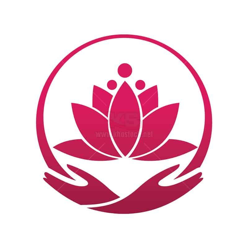 Logo Hoa Sen bàn tay vòng tròn - KS1128
