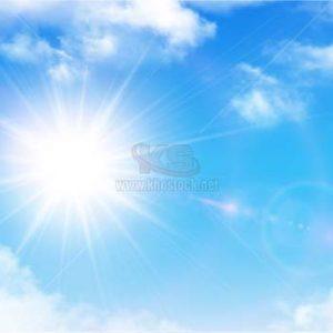Vector bầu trời xanh và mây - KS1130