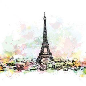 Vector Paris tuyệt đẹp với tháp Eiffel - KS1133