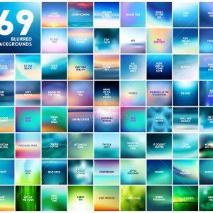 69 Blurres Background Vector - KS1184