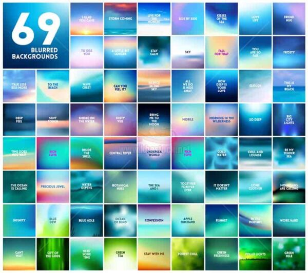 69 Blurres Background Vector - KS1184