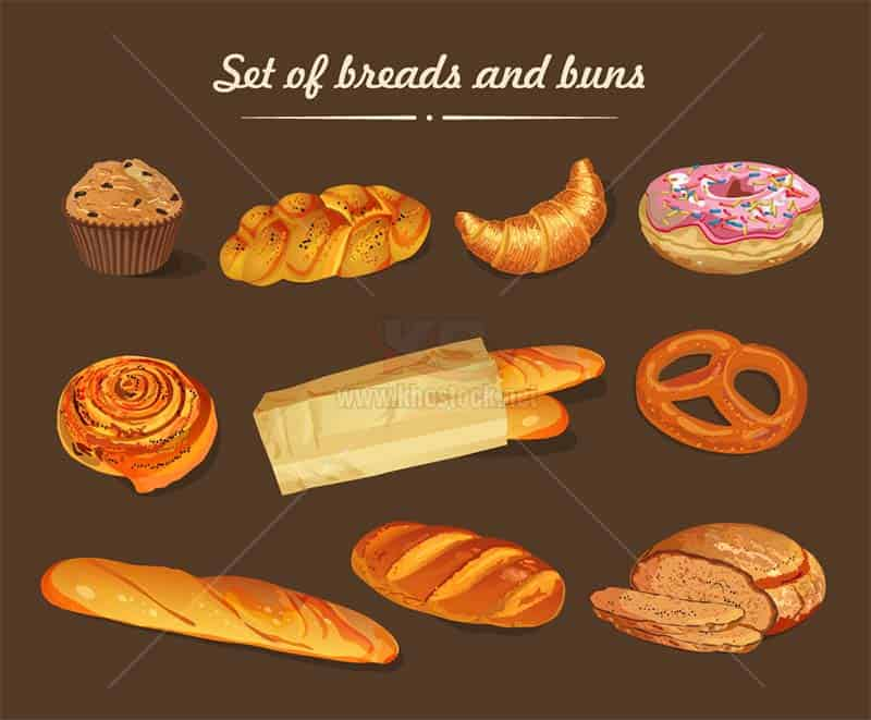 Vector Bánh Mì chất lượng cao tuyệt đẹp - KS1190