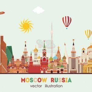 Du Lịch Moscow Vector tuyệt đẹp - KS1196