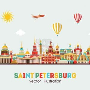 Vector du lịch Saint Petersburg - KS1199