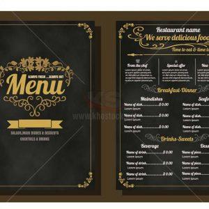 Vector menu sang trọng cho nhà hàng - KS1038